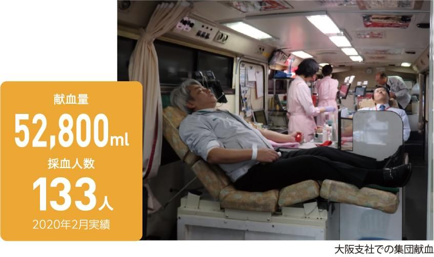 朝日工業社献血助け合い月間