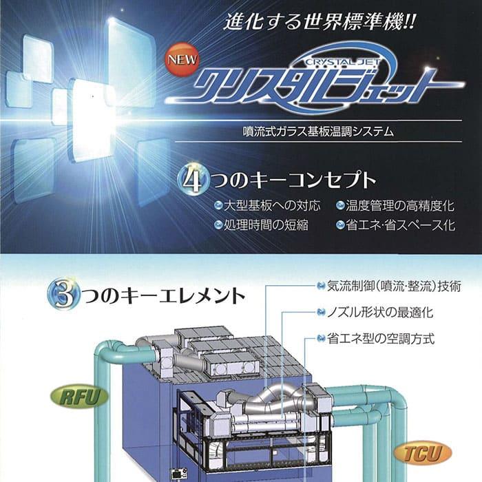 噴流式ガラス基板温調システム <br>「クリスタルジェット」